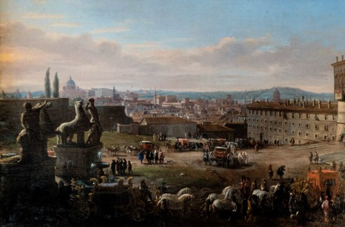 Piazza del Quirinale, Gaspar Vanvitelli, widok z początku XVIII w., Galleria Colonna