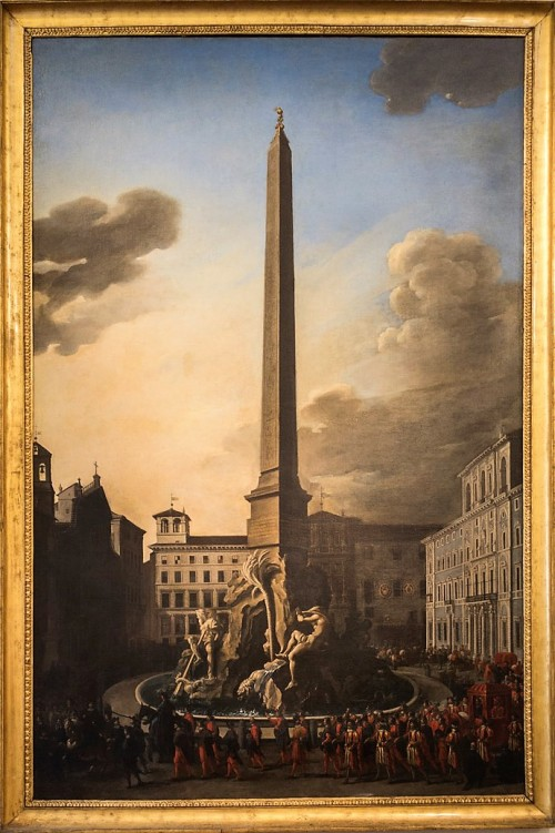 Pope Innocent X looking at the fountain at Piazza Navona, approx. 1651, Museo di Roma, Palazzo Braschi