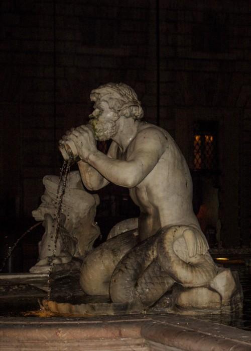 Fontana del Moro, tryton, Piazza Navona
