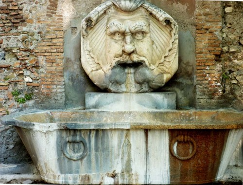 Fontana del Mascherone di Santa Sabina on Aventine Hill