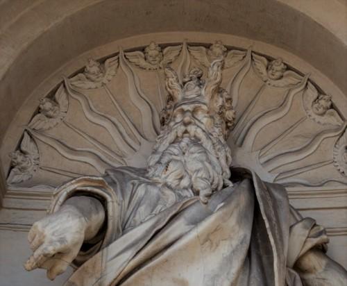 Fontana dell'Acqua Felice (Fontana del Mosè), Moses, fragment