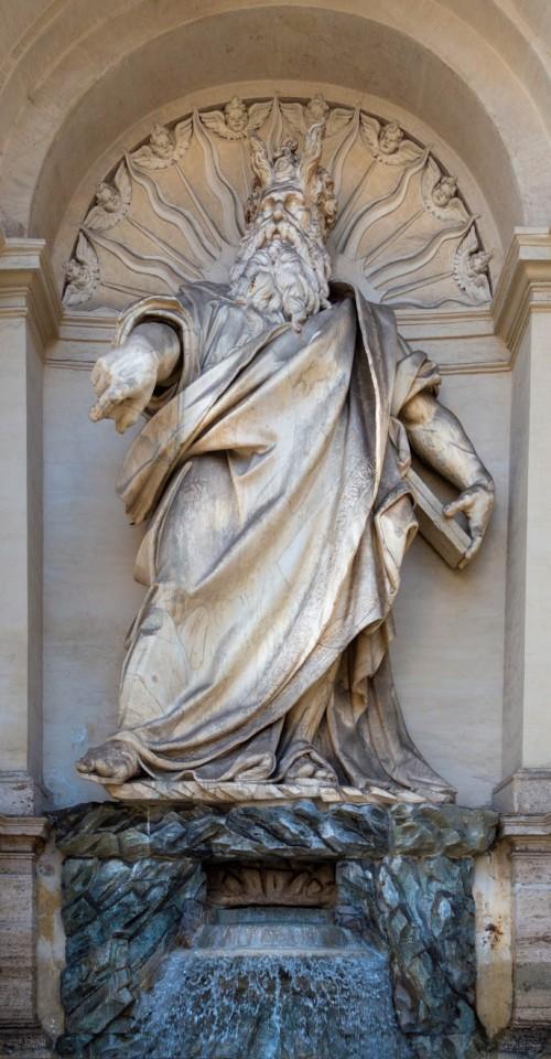 Fontana dell'Acqua Felice, statue of Moses, Piazza San Bernardo