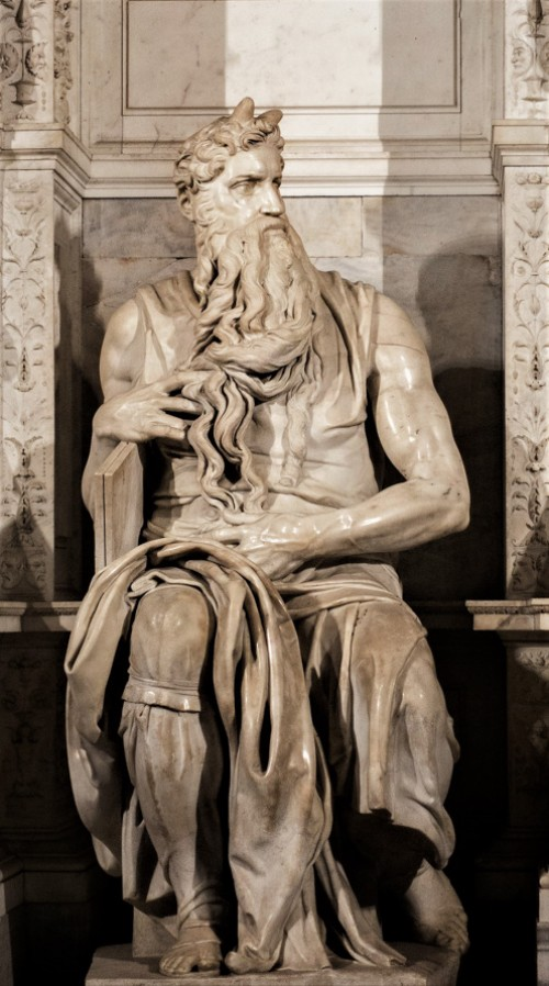 Statue of Moses, funerary monument of Julius II, Michelangelo, Church of San Pietro in Vincoli