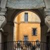 Fontana dell'Acqua Paola, balkon w części środkowej fontanny