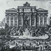 Fontanna di Trevi, fasada fontanny stworzona za  papieża Klemensa XII, rycina - Giovanni Battista Piranesi