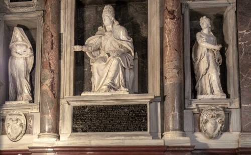 Domenico Fontana, funerary monument of Pope Nicholas IV, Basilica of Santa Maria Maggiore (on the left side from the enterance)