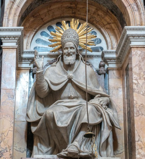 Domenico Fontana, projekt posągu papieża Piusa V, Cappella Sistina, bazylika Santa Maria Maggiore