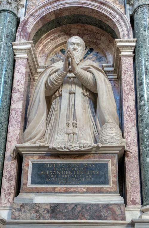 Domenico Fontana, projekt posągu papieża Sykstusa V, Cappella Sistina, bazylika Santa Maria Maggiore
