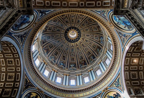 Domenico Fontana, completing of the construction of the dome of the Basilica of San Pietro in Vaticano, design Michelangelo