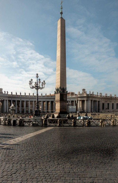 The Vaticano Obelisk placed by Fontana at St. Peter's Square