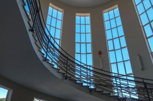 The former seat of the Accademia di Educazione Fisica, staircase