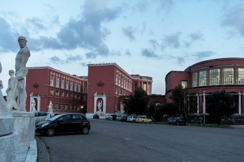 Foro Italico, Accademia di Educazione Fisica, Enrico del Debbio, widok od strony stadionu