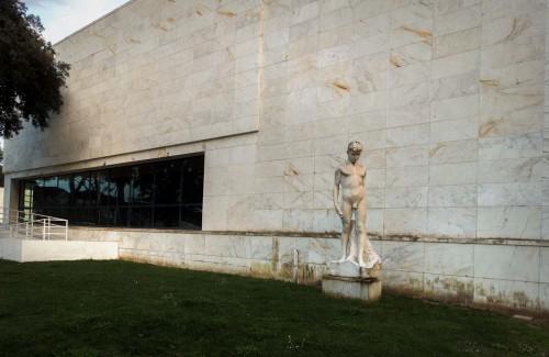 Foro Italico, Casa delle Armi, Luigi Moretti,  fasada wschodnia budynku