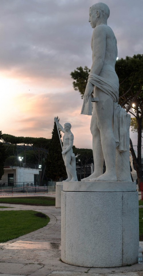 Foro Italico, decorations of the tennis court