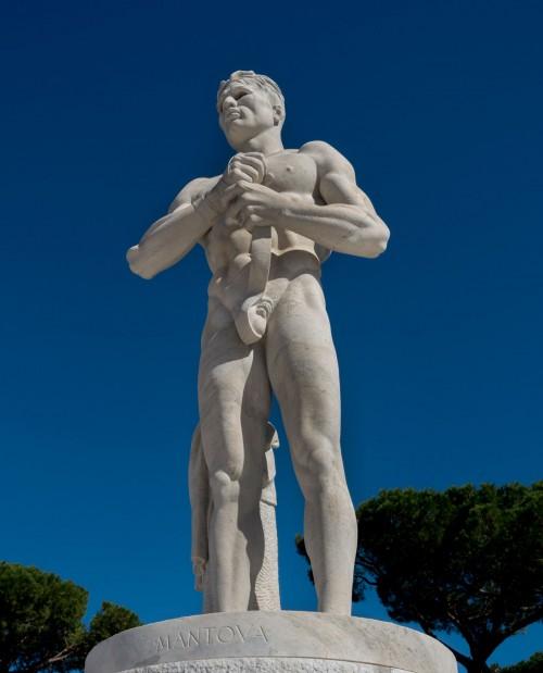 Foro Italico, one of the statues adorning the stadium (Stadio dei Marmi)