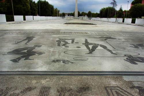 Foro Italico, Piazzale dell' Impero z widokiem na obelisk Mussoliniego