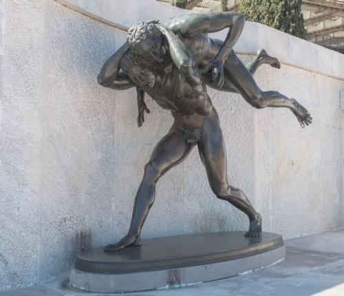 Foro Italico, rzeźba dekorująca trybunę honorową Stadio dei Marmi