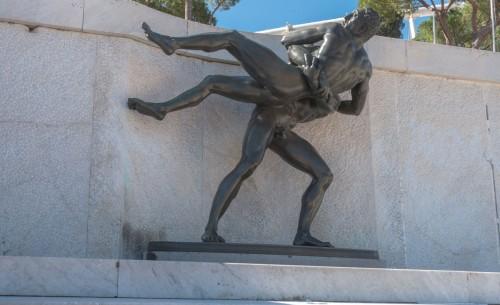 Foro Italico, sculpture adorning the grandstand of Stadio dei Marmi