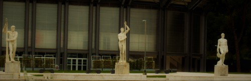 Foro Italico, rzeźby - dekoracje kortu tenisowego
