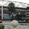 Fontanna z kulą ziemską przed stadionem - zwieńczenie Piazzale dell'Impero