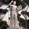 Foro Italico, sculpture at the back of the swimming center