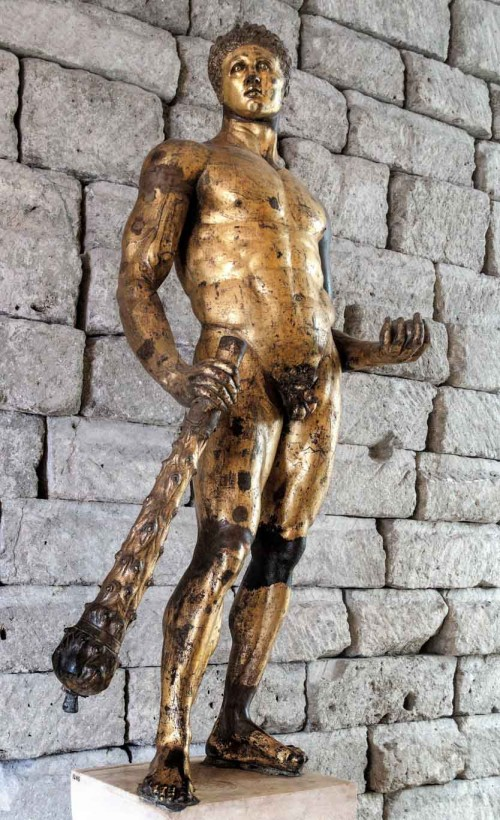Statue of gilded Hercules from Forum Boarium, Musei Capitolini