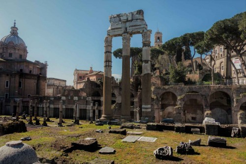 Forum of Cesar, remains of the Temple of Venus Genetrix