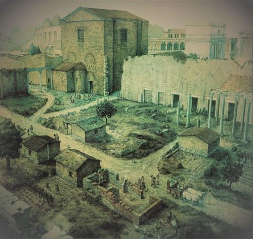 Forum Cezara w czasach średniowiecza