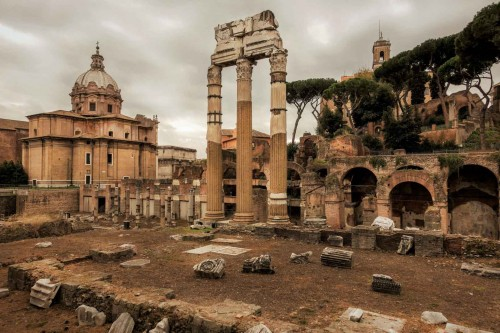 Forum of Caesar, in the background Church of Sant Luca e Martina