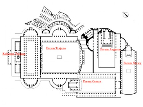 Rzymskie fora, zdj. Wikipedia, autor  3coma4