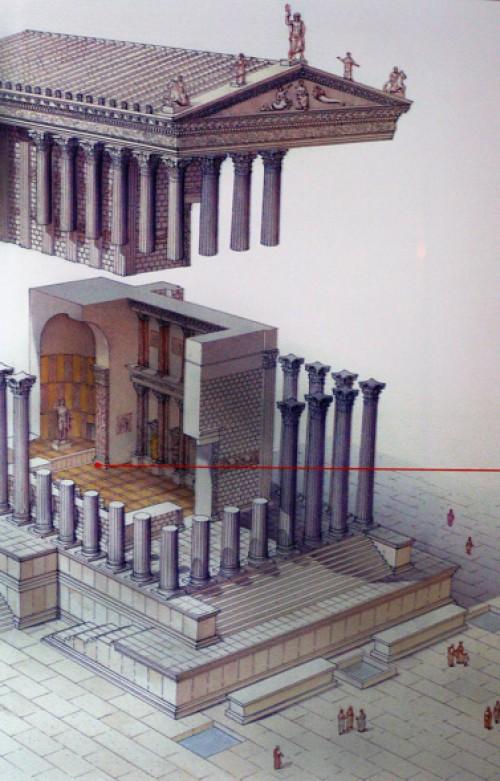 Temple of Venus Genetrix, reconstruction, Museo dei Fori Imperiali