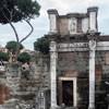 Forum of Nerva, remains of columns surrounding the forum