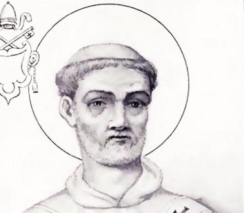 Papież Gelazy I, rycina z The Lives and Times of the Popes, Chevalier-Artaud de Montor,zdj. Wikipedia