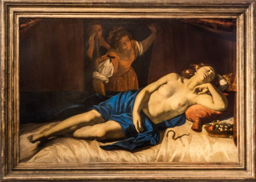 Artemisia Gentileschi, Śmierć Kleopatry, kolekcja prywatna