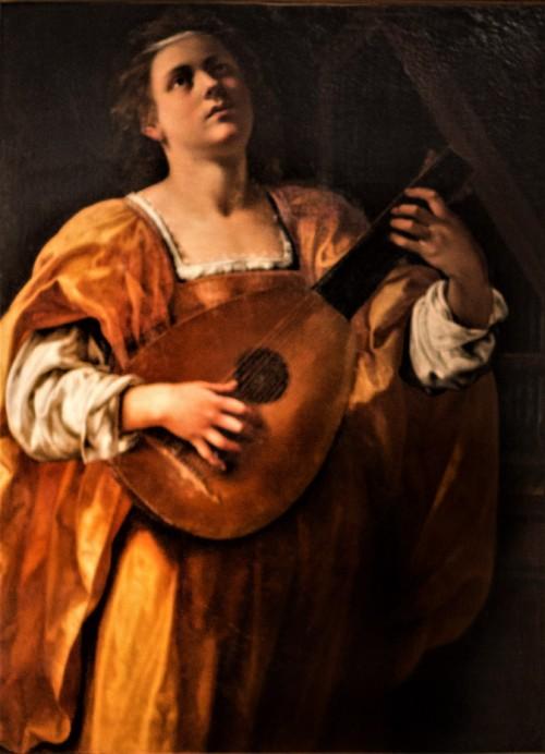 Artemisia Gentileschi, Św. Cecylia grająca na lutni, Galleria Spada