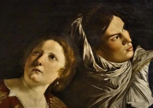 Orazio Gentileschi, Judyta z głową Holofernesa, fragment, Musei Vaticani - Pinacoteca Vaticana