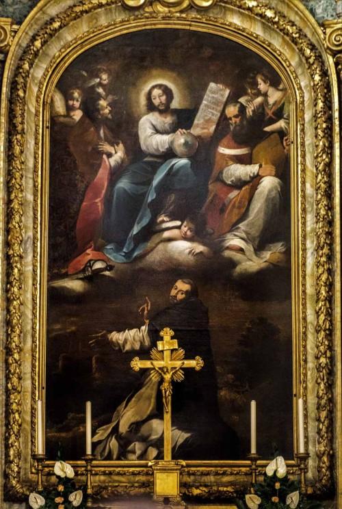 Antiveduto Grammatica, Christ the Savior with St. Stanislaus of Krakow, St. Adalbert of Prague and St. Hyacinth Odrowaz, Church of San  Stanislao dei Polacchi