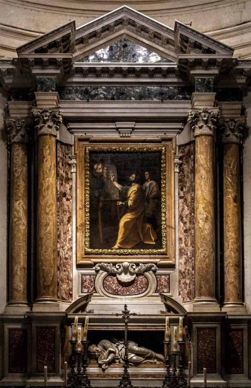 Antiveduto Grammatica, Św. Łukasz malujący cudowny obraz Madonny, kościół Santi Luca e Martina