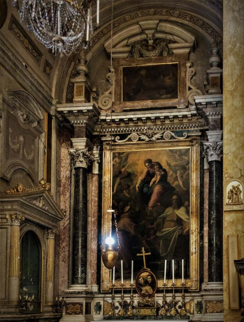 Antivenuto Grammatica, Madonna z dzieciątkiem adorowana przez św. Jacka Odrowąża (Hiacynta) i innych świętych, kościół Santa Maria della Scala
