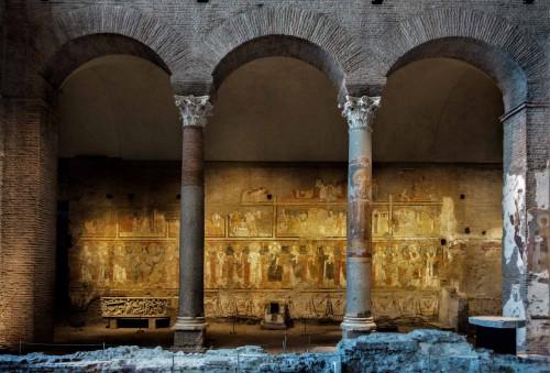Kościół Santa Maria Antiqua powstały w czasie pontyfikatu papieża Grzegorza I