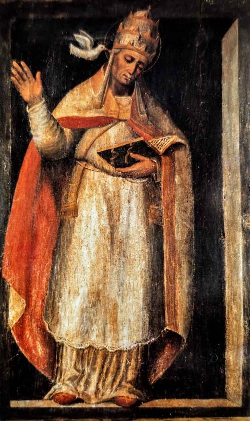Św. Grzegorz I, obraz nieznanego autora, XV w, klasztor kościoła San Gregorio Magno