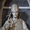 Statue of St. Pope Gregory I, fragment, Nicolas Cordier, Santa Barbara Oratory