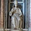 Statue of Gregory the Great, Nicolas Cordier, Santa Barbara Oratory
