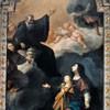 Św. Benedykt ukazujacy się młodemu Grzegorzowi i jego matce Sylwii, John Parker, 1749, kościół San Gregorio Magno