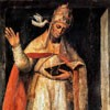 St. Gregory I, painting by an unknown author, XV century, monastery of the Church of San Gregorio Magno