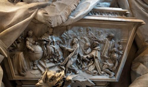 Nagrobek Grzegorza XIII, fragment, ozdobny relieg wykonany przez Francesco Mellonego, bazylika San Pietro in Vaticano