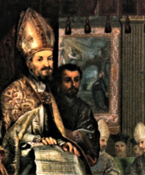 Nagrobek papieża Grzegorza XV i kardynała Ludovico Ludovisi, fragment, kościół Sant'Ignazio