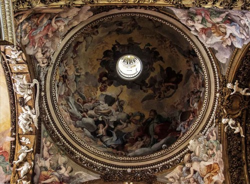 Guercino, frescoes in the dome of the Church of Santa Maria della Vittoria