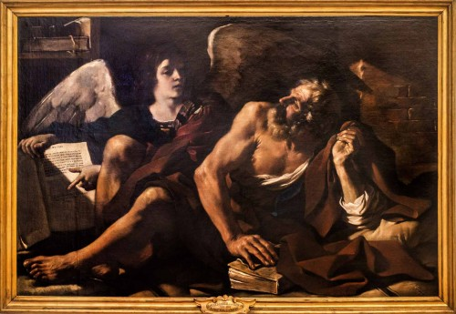 Guercino, St. Matthew with an Angel, Pinacoteca Capitolina