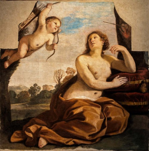 Guercino, Wenus z Amorem, 1632, Accedemia Nazionale di San Luca